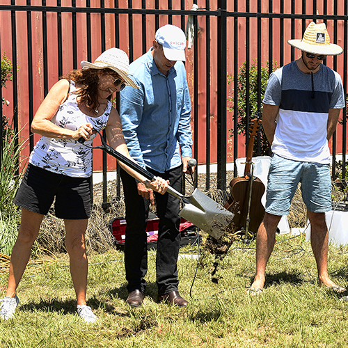 The Lakes sod turning event